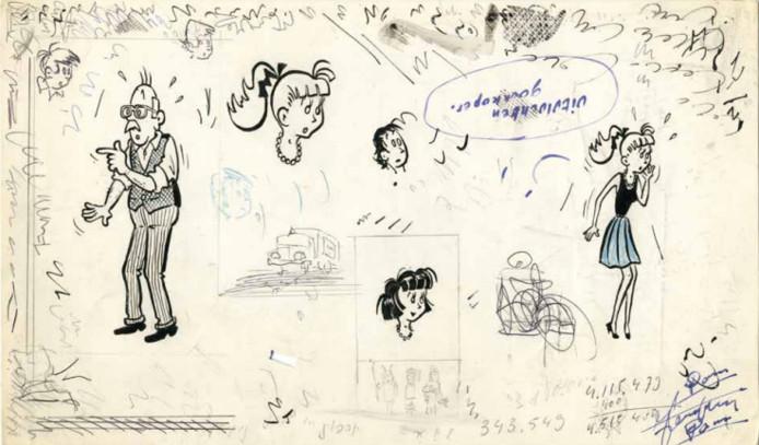 De topstukken waren originele tekenplaten van de cultreeks Piet Pienter en Bert Bibber, met hamerprijzen van 500 tot 2.800 euro.