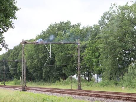 Brandend ooievaarsnest legt treinverkeer tussen Apeldoorn en Amersfoort plat