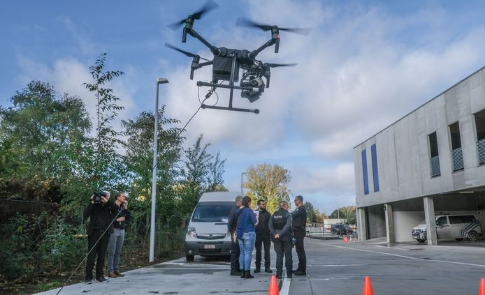De drone in actie