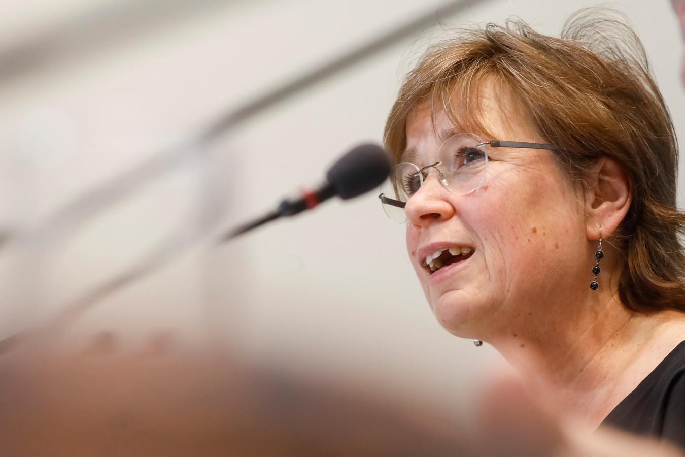 Alda Greoli, ministre wallonne de l'Action sociale.