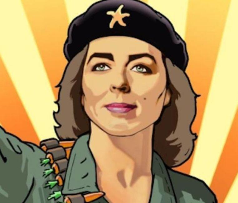 Marianne Thieme is over de grens een heldin. Beeld