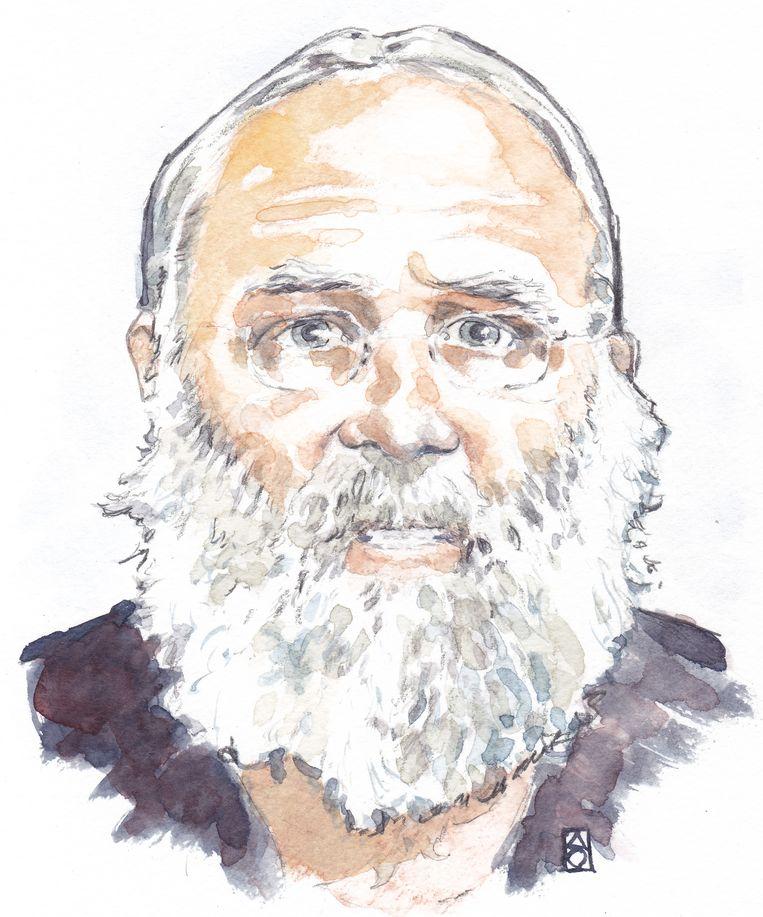 Impressie van de 67-jarige Gerrit Jan van D., de vader van het gezin dat is gevonden in een kelder in Ruinerwold. Beeld ANP