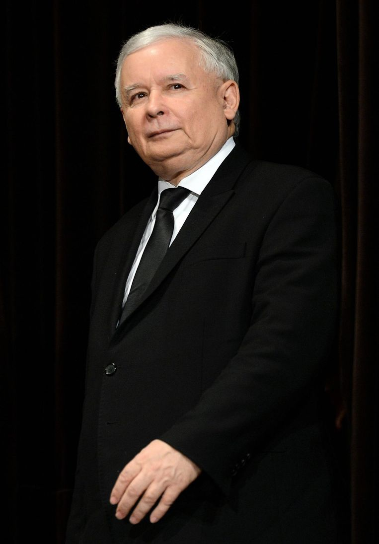Partijvoorzitter Jaroslaw Kaczynski. Beeld AFP