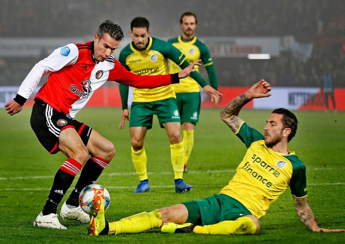 Fortuna won eerder dit seizoen met 0-2 in De Kuip.
