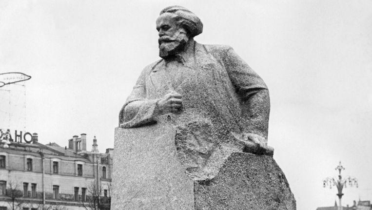 Standbeeld van Marx in Moskou Beeld AFP