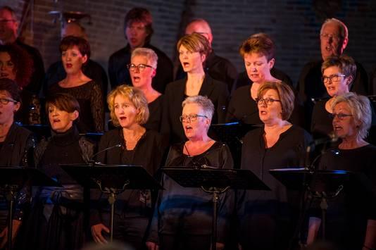 BORNERBROEK - foto van koor Ad Fundum dat bijzondere uitvoering van Stabat Mater zingt.