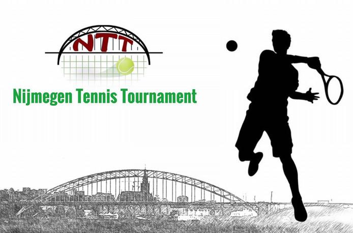 Het logo van het Nijmegen Tennis Tournament
