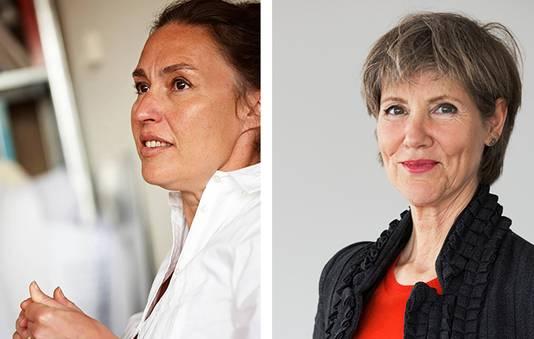 Architecten Ellen van Loon (l) en Liesbeth van der Pol (r). Eerstgenoemde wordt binnenkort op een zijspoor gezet, laatstgenoemde werd volgens betrokkenen aan de kant gezet uit onvrede over haar functioneren.
