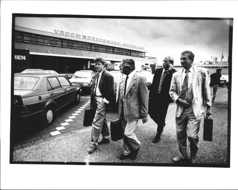Vakbondsonderhandelingen 1988 Beeld Wim Ruigrok