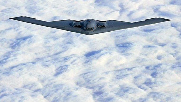Een B-2 stealth bommenwerper, op archiefbeeld. Beeld afp