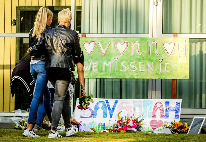 Het verdriet in Bunschoten na het bekend worden van de dood van Savannah was onbeschrijfelijk.
