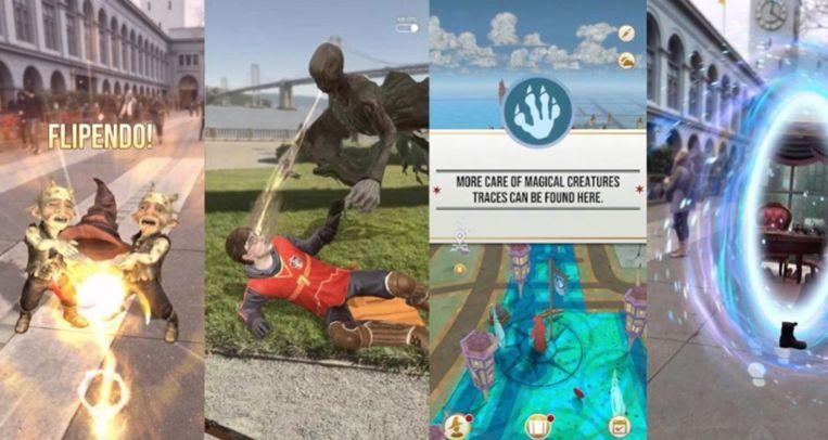 Enkele beelden uit Wizards Unite.