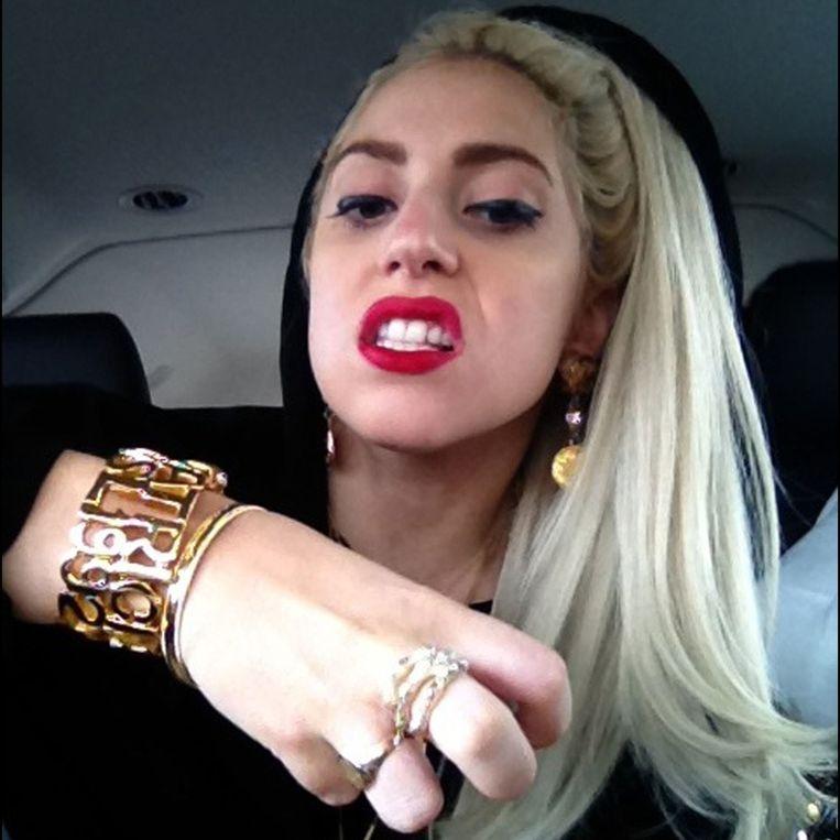 Lady Gaga deelt regelmatig kiekjes met haar fans op Twitter.