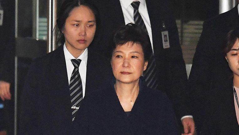 Park Geun-hye na een hoorzitting Beeld getty