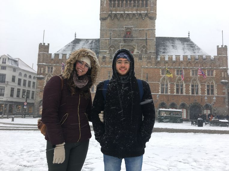 Spanjaarden Peter Ribo en zijn vriendin Garbine bezoeken deze week Brugge.