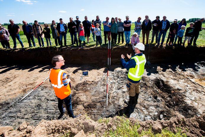Open dag archeologie bij werkzaamheden aan de rondweg N345 bij de Hoven.