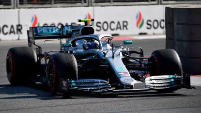 Bottas verzilvert pole in Baku en neemt WK-leiding over van Hamilton