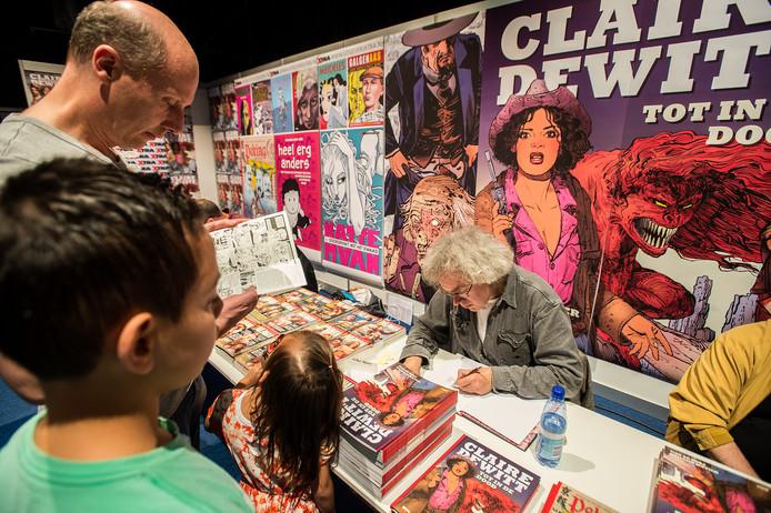 Een signeersessie op het Stripfestival in Breda.