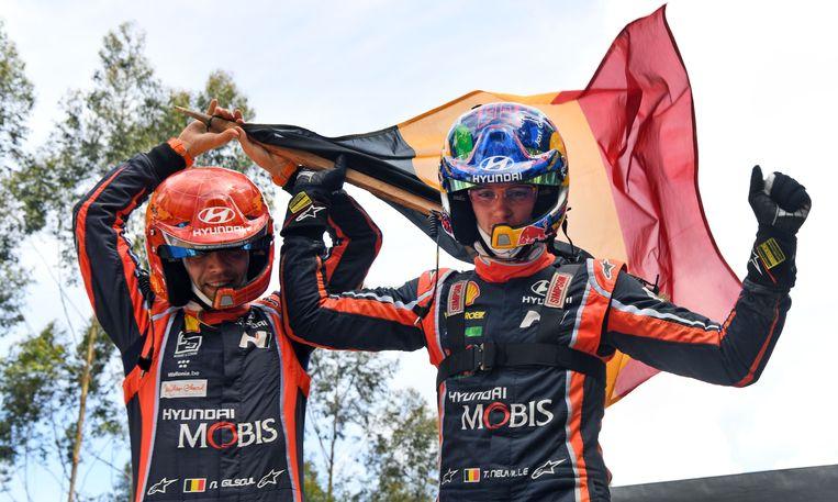 Net geen wereldkampioen: Thierry Neuville strandde met zijn co-rijder Nicolas Gilsoule opnieuw op de tweede plaats in het WK Rally.