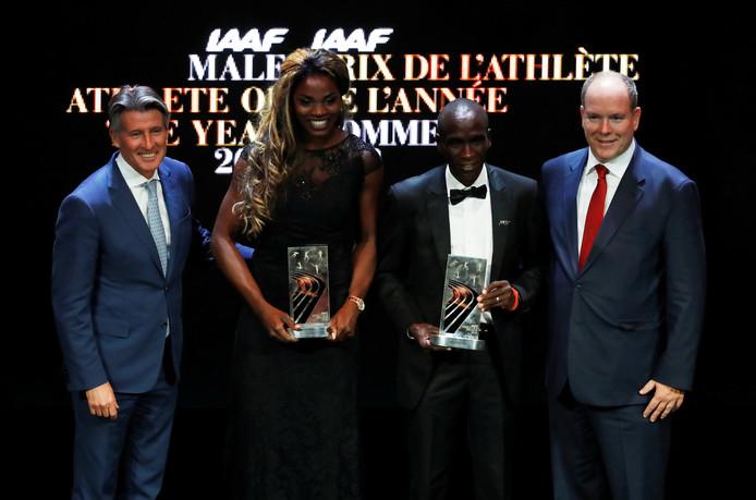 Caterine Ibarguen en Eliud Kipchoge worden gehuldigd als atleten van het jaar.