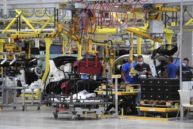 Een autofabriek in Frankrijk. Beeld AFP