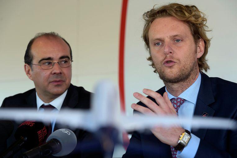 CEO Bernard Gustin en CFO Jan De Raeymaeker moeten vertrekken bij Brussels Airlines.