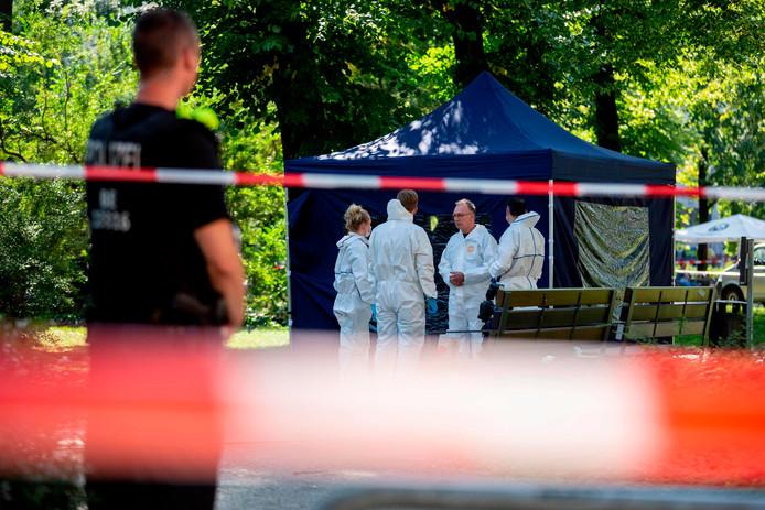 De plek in Berlijn waar Khangoshvili werd doodgeschoten.