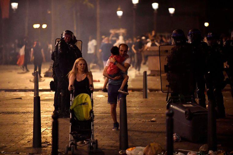 Politie grijpt in na uit de hand gelopen finalefeest in Frankrijk.