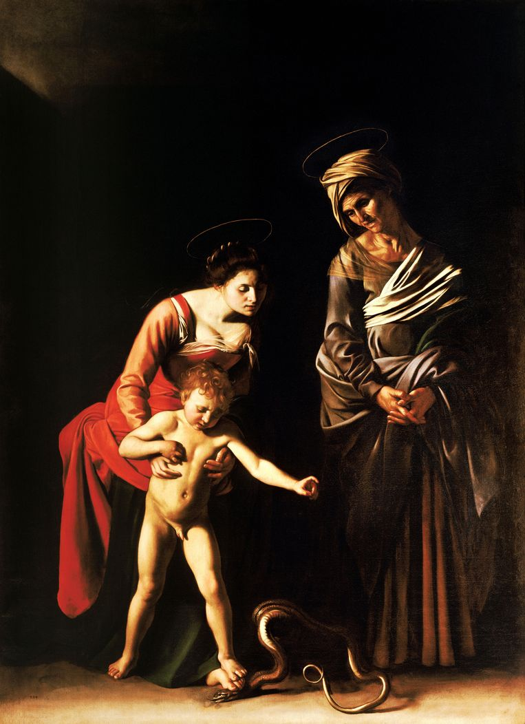 Madonna and Child with St. Anne ( Dei Palafrenieri ) - by Caravaggio, 1606 Beeld Imageselect