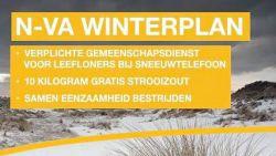 N-VA wil leefloners sneeuw laten ruimen