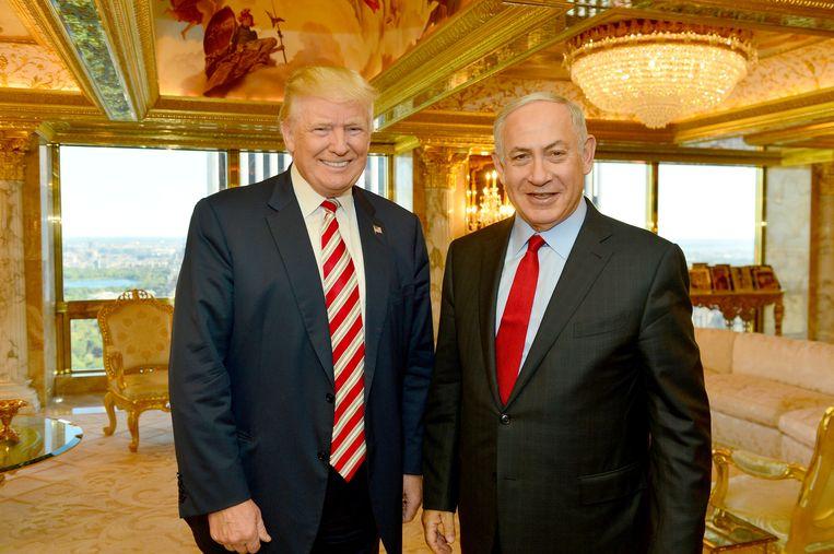Trump en Netanyahu in september van dit jaar. Beeld reuters