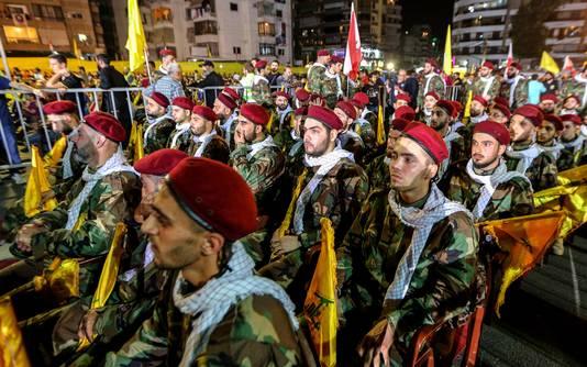 Manifestants en faveur du groupe Hezbollah