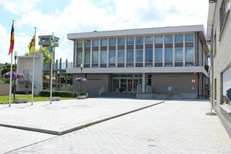 Het gemeentehuis van Kuurne.
