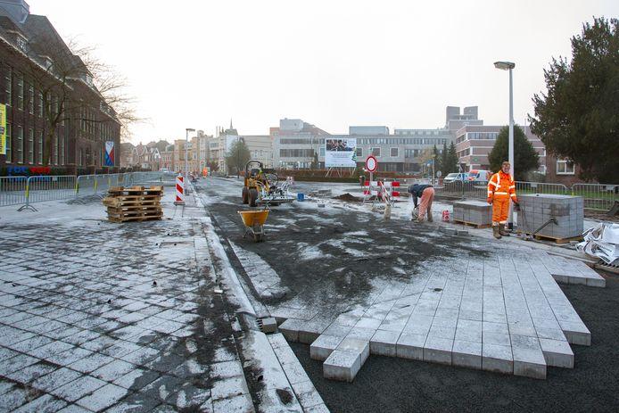De werkzaamheden begin dit jaar aan de Ripperdastraat in Enschede