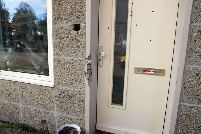 Schade huis beschoten Delibesweg Eindhoven