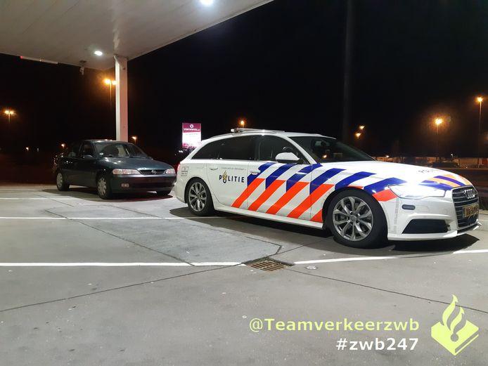 Spookauto in beslag genomen bij Hazeldonk.
