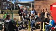 Ouders kamperen aan vrije basisschool Mater Dei