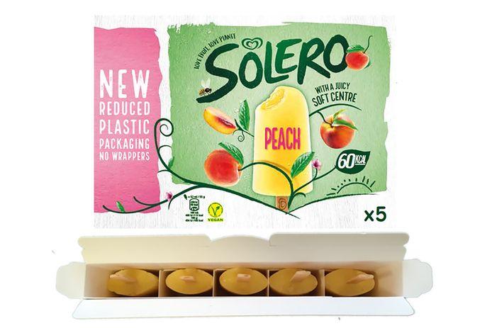 Voortaan worden Solero-ijsjes zonder plastic wikkel verkocht.