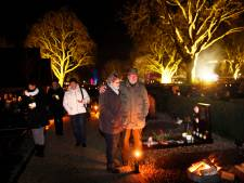 Lichtjes op begraafplaats Leerdam: 'Met kerst is het gemis van een dierbare het sterkst'