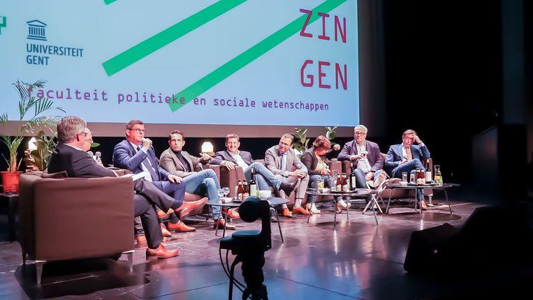 De partijvoorzitters gingen gisteren met elkaar in debat in de Vooruit.