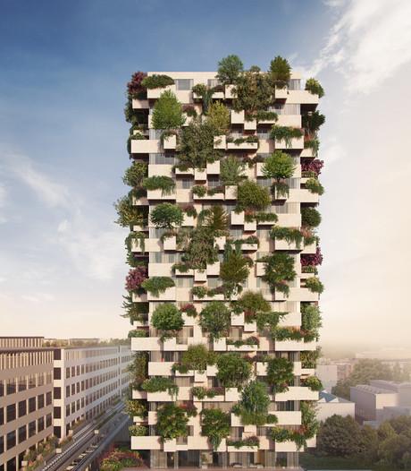 Strijp-S Eindhoven krijgt een verticaal bos in groene toren