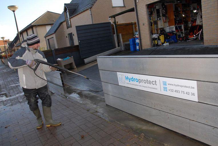 Buurtbewoner Patrick Poelemans had begin vorig jaar nog problemen door de vele wateroverlast.