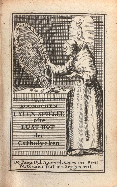 Uit de collectie die geveild wordt. Helemaal rechts staat de Duitse 'Eulenspiegel' uit 1542, die 900 à 1.400 euro is geschat.