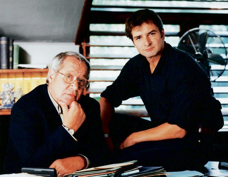 De Cock (Piet Römer) en Vledder (Victor Reinier) in de originele serie.