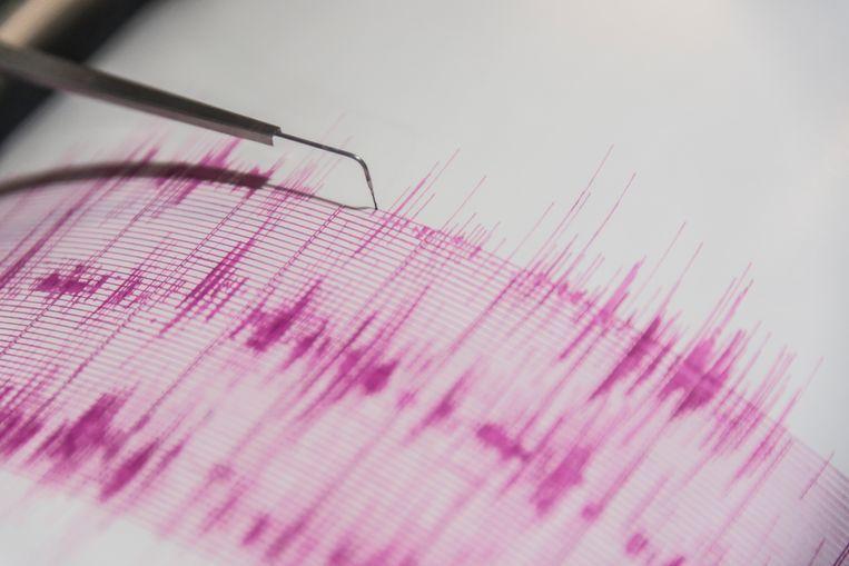 Een seismograaf meet de aardschokken.