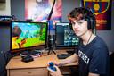 Thorben speelt het spel Fortnite.