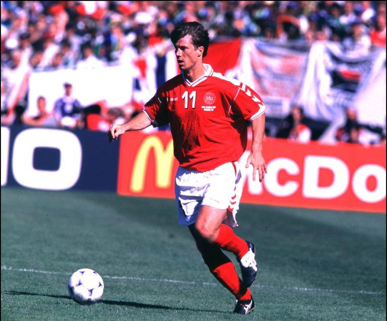 Michael Laudrup in het shirt van Denemarken (1998).