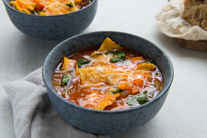 Ravioli-soep