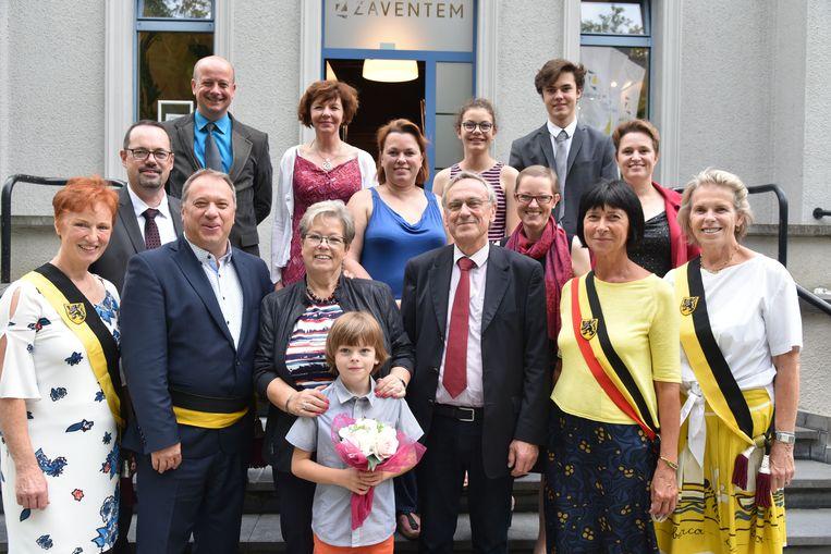 Gouden bruiloft van Marc Laureys en Marie Schoonejans uit Zaventem.