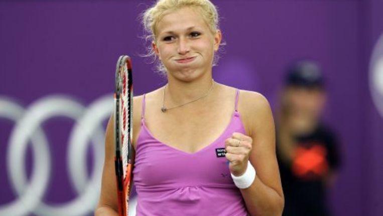 Michaëlla Krajicek, blij met haar overwinning. ANP Beeld
